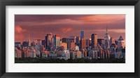 Framed Sunrise Over New York