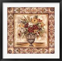 Framed Floral Tapestry II