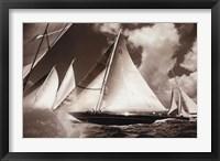 Cannon Race I Framed Print
