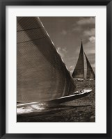 Framed Sepia Sails I
