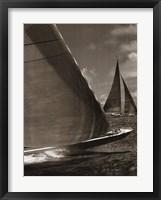 Framed Sepia Sails I