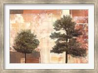 Framed Parchment Trees I
