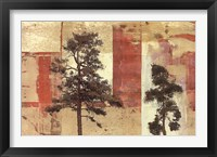 Framed Parchment Trees II