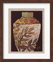 Framed Sumach Leaf Pottery