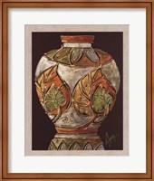 Framed Birch Leaf Pottery