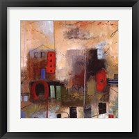 City Houses III Framed Print