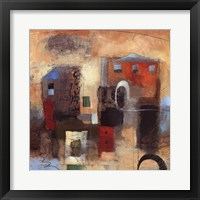 City Houses IV Framed Print