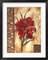 Framed Illuminated Lily I