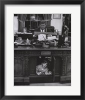 Framed Jfk And John Jr, 1963