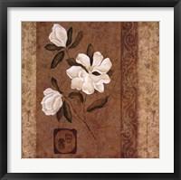 Framed Magnolia Stripe I