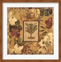 Framed Fabric Palm I