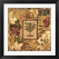 Framed Fabric Palm I