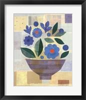Framed Blue Flower Vase