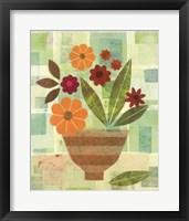 Framed Yellow Flower Vase