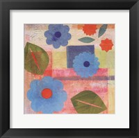Framed Blue Pattern Flower