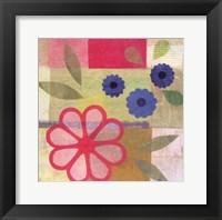 Framed Pink Pattern Flower