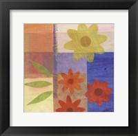 Framed Brown Pattern Flower