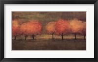 Red Trees II Framed Print