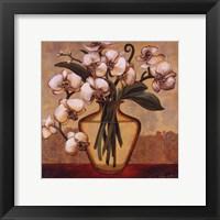 White Autumn Orchids Framed Print