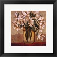 White Autumn Magnolias Framed Print