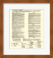 Framed Constitution (Document)
