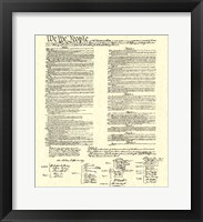 Constitution (Document) Framed Print