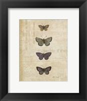 Framed Botanical Butterflies I