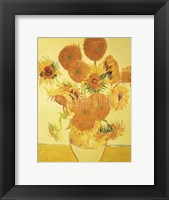 Framed Sunflowers on Gold, 1888
