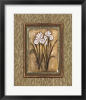 Framed Peaceful Flowers I