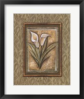 Framed Peaceful Flowers IV