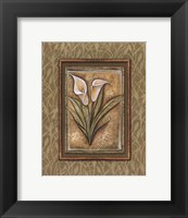 Framed Peaceful Flowers IV - Mini