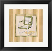 Retro Patio Chair II Framed Print