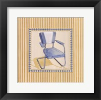 Retro Patio Chair III Framed Print