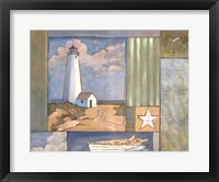 Lighthouse Collage I Framed Print