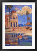 Beach Club I Framed Print