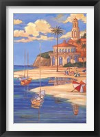 Beach Club II Framed Print
