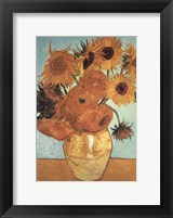 Sunflower on Blue, c.1888 Framed Print