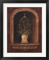 Framed Olive Topiary Niches I