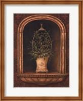 Framed Olive Topiary Niches I - Mini
