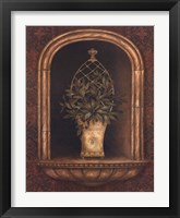 Framed Olive Topiary Niches II