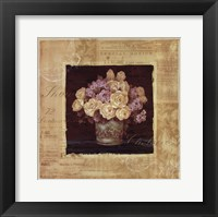 Vintage Rose Yellow - Special Framed Print