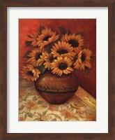 Framed Tuscan Sunflowers II