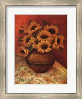 Framed Tuscan Sunflowers II