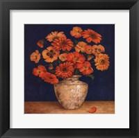 Poppies And Indigo II - Mini Framed Print