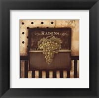 Raisins - Square Mini Framed Print