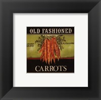 Framed Old Fashioned Carrots - Special