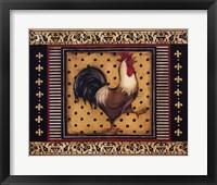 Provence Rooster I Framed Print