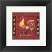 Mediterranean Rooster IV - Square Framed Print
