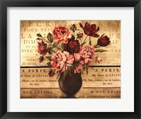 Paris Rose I Framed Print