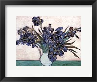 Framed Irises in Vase, c.1890